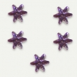 Pack de 30 strass flocon de neige Light Amethyste